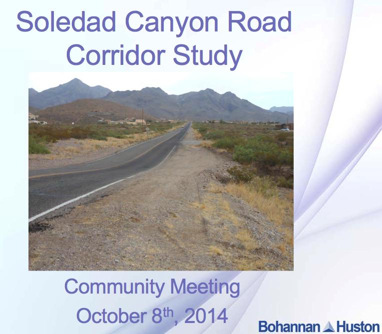 Soledad Canyon Corridor Study