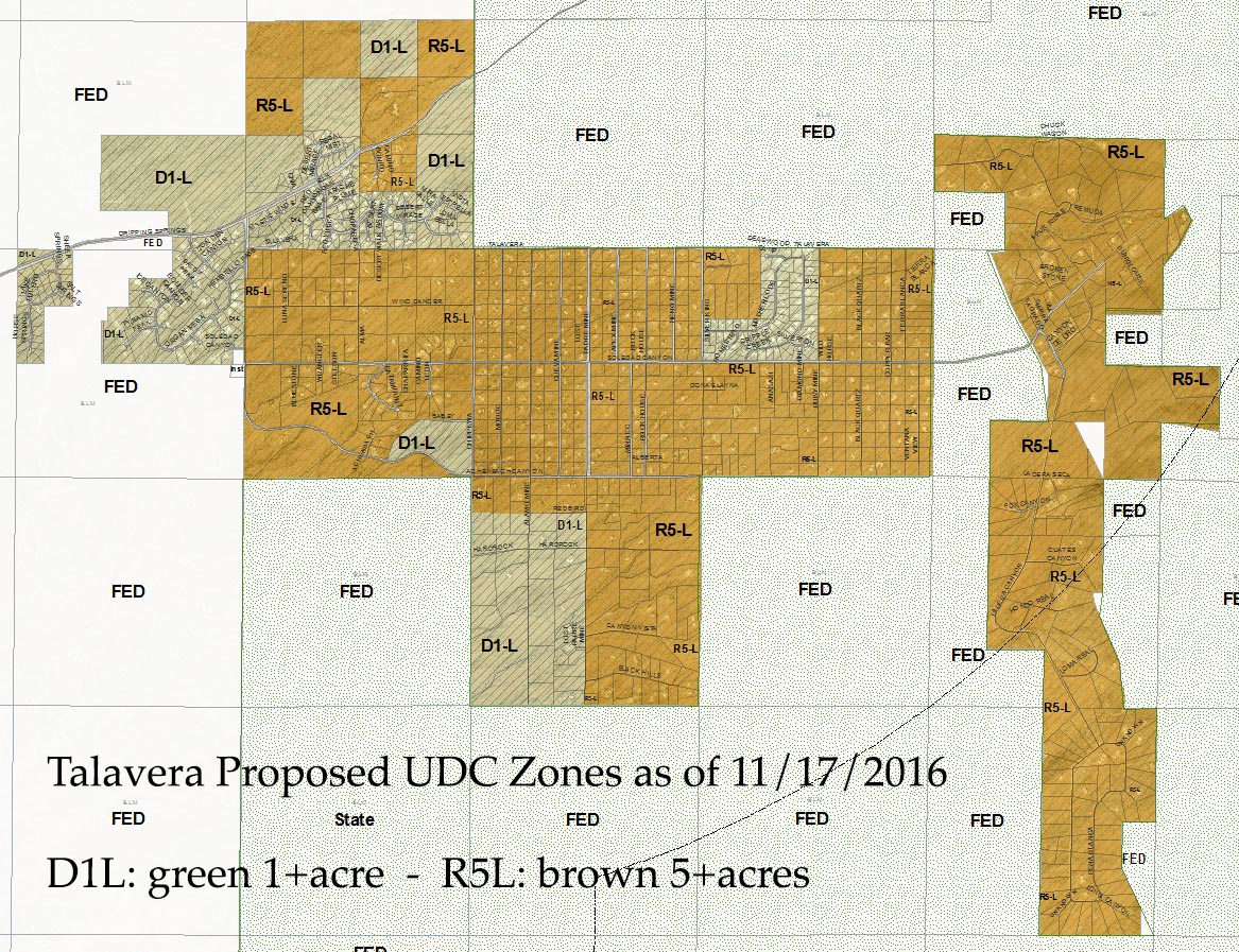 Proposed UDC Zoning for Talavera as of Nov 17th, 2016